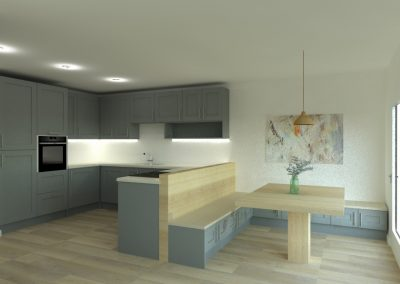 kitchen design Bedfordshire, kitchen design Hertfordshire, kitchen fitter, kitchen extension Bedfordshire, kitchen extension Hertfordshire, handleless kitchen, shaker kitchen, modern kitchen, classic kitchen, open plan living, kitchen island, breakfast bar, kitchen showroom, booth seating